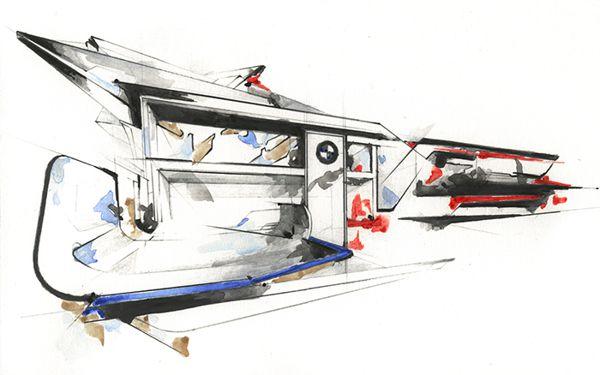 最新国外设计效果图三十六--宝马手绘图