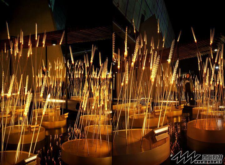 """""""皇家稻田""""照明展览设计@泰国曼谷"""