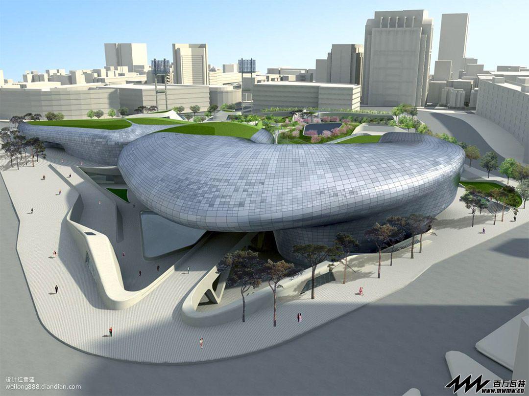 扎哈·哈迪德在韩国的大作-东大门广场 韩国首尔