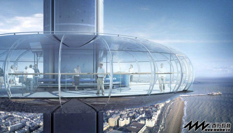 坐拥不列颠最壮观海岸线 伦敦眼设计者打造全英最高瞭望塔Brighton i360