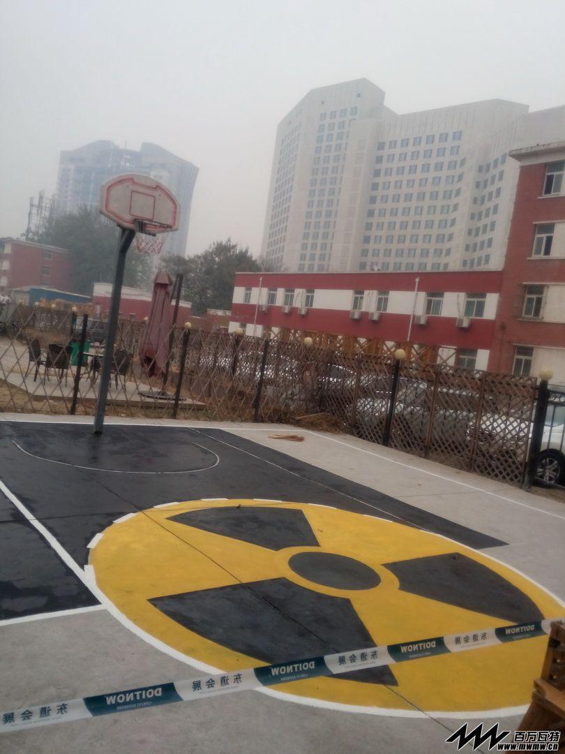 手绘篮球场