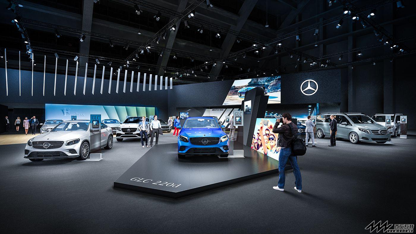 梅赛德斯-奔驰 展台效果图@2017比利时布鲁塞尔国际车展