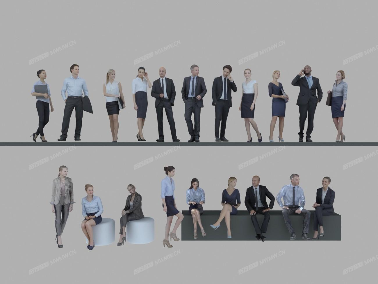 商务办公人物3DMAX模型.jpg