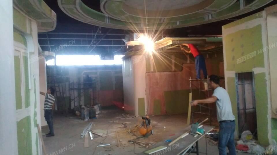 移动展厅现场施工