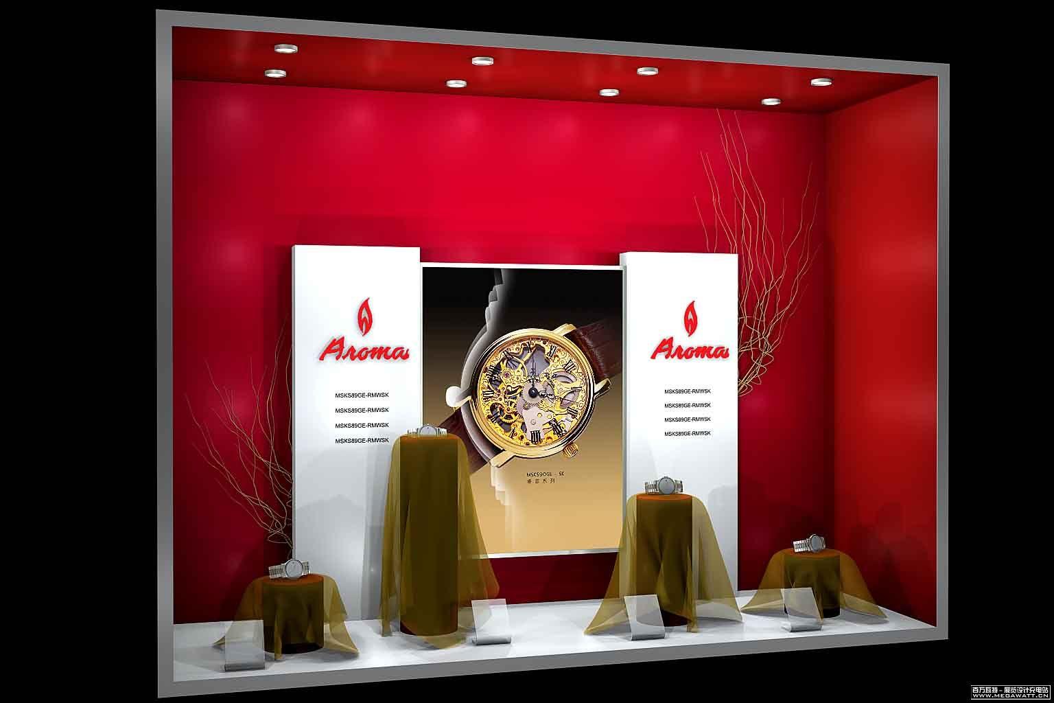 手表橱窗:大家都说,橱窗是一个非常讲究的一门设计