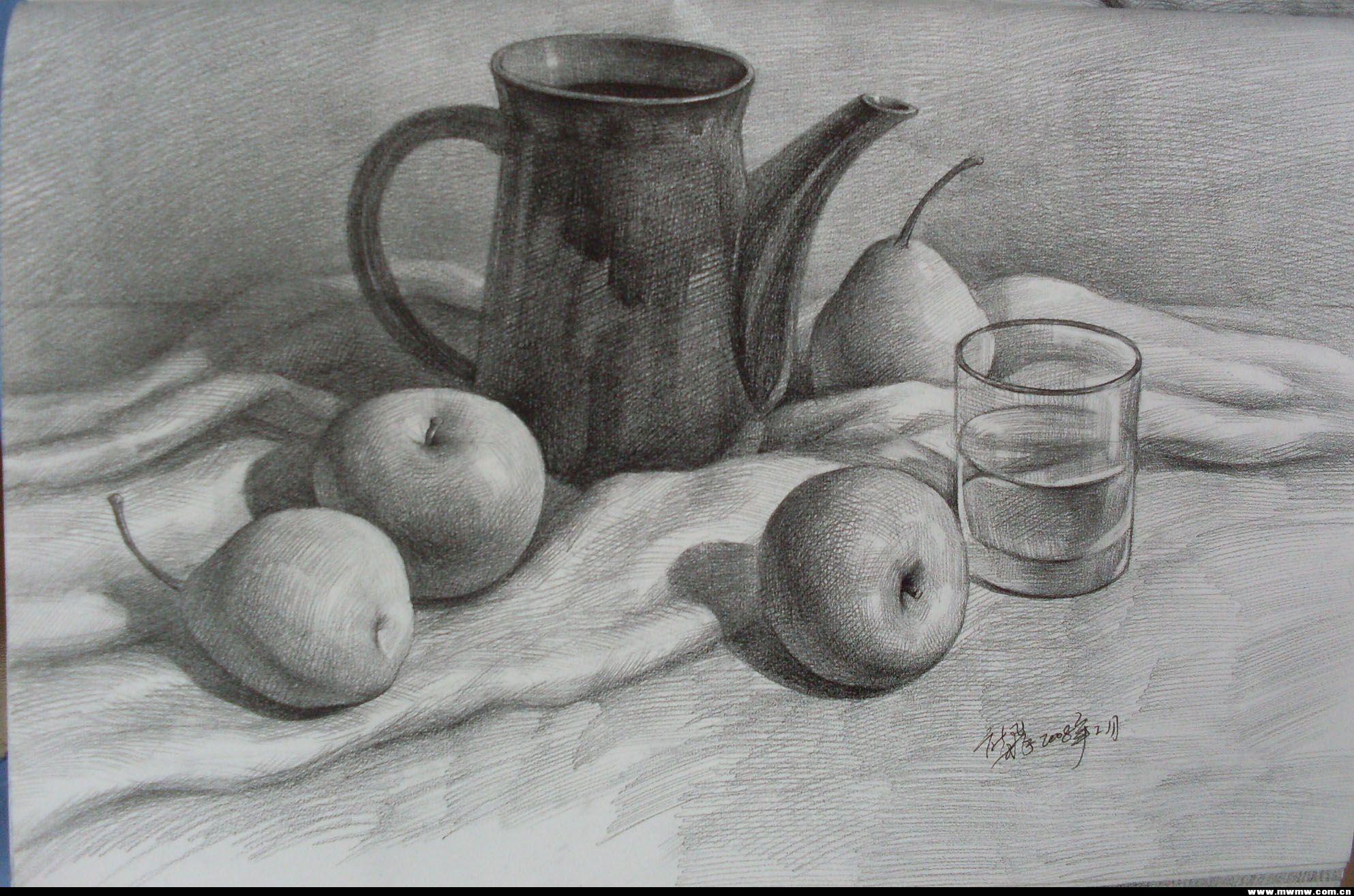 素描青椒画法步骤图片