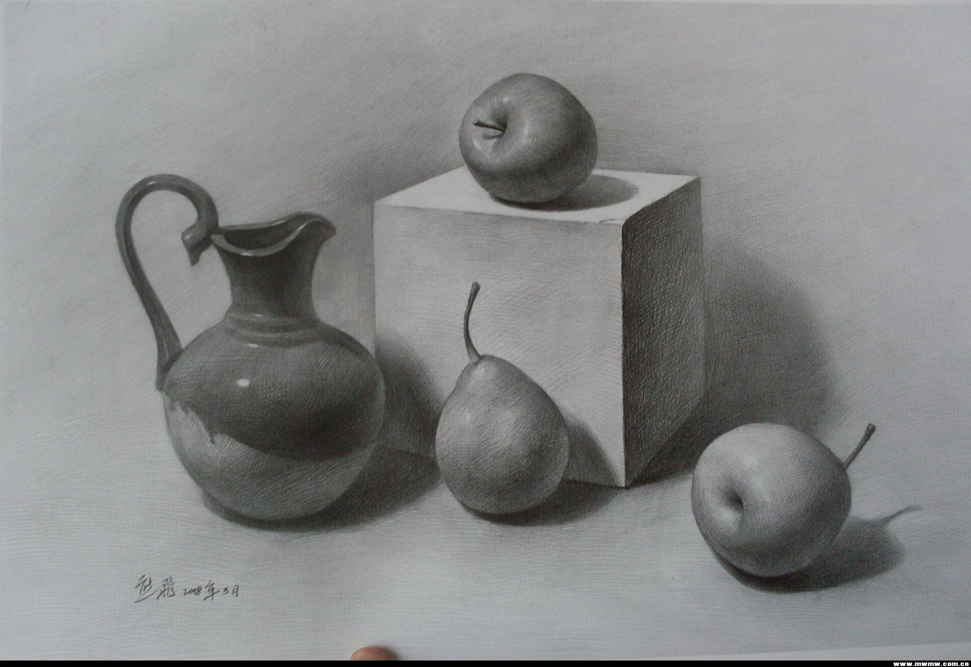 素描壶步骤图片