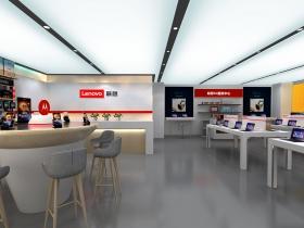 北京智能电视体验店丨联想智能电视店面效果图