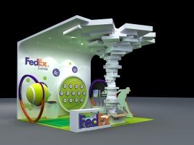 FedEX之前做的两年的小展台