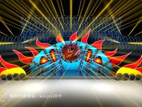 舞匠视觉设计太阳星球音乐节舞美效果图舞台设计图