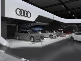 2018日内瓦车展-奥迪展台设计