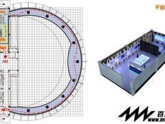 之前做的一个电力方面的小展厅方案效果图