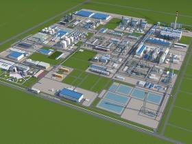 发电厂鸟瞰3dmax模型