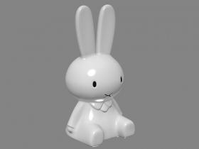 兔子玩具3D模型