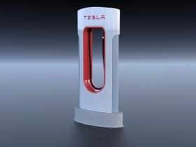 特斯拉电动充电桩3D模型