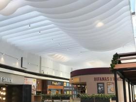 商业空间·法国纹理纸·条状天花