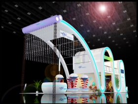 上海化工展——昊基展台搭建效果图