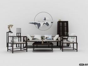 新中式组合桌椅