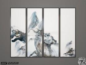 中式手绘天马行空装饰画3D模型