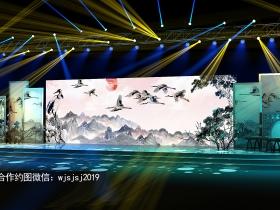 2019中式舞美效果图中国风舞台效果图设计