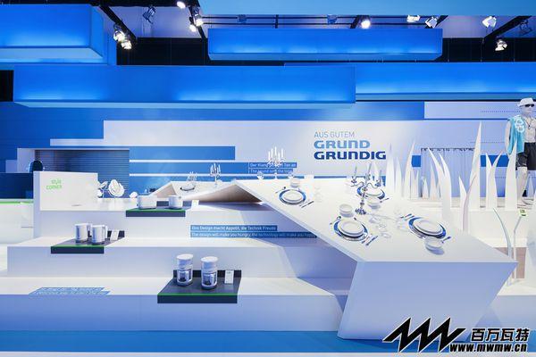 蓝白Grundig品牌时尚秀场设计
